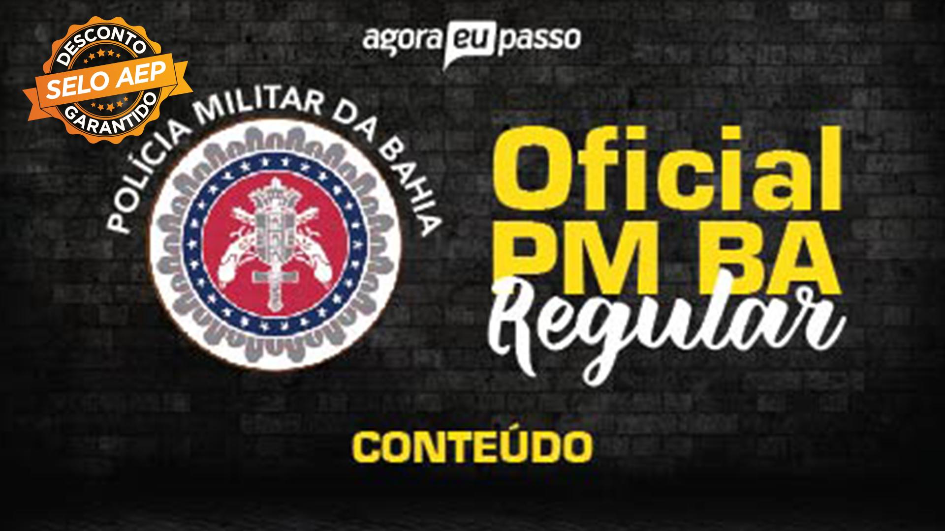 CFO PM BA - Oficial da Polícia Militar da Bahia